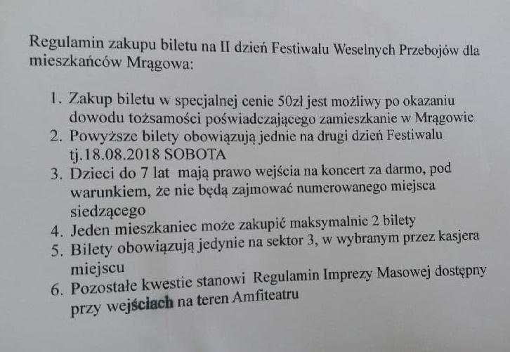 Festiwal Weselnych Przebojów 2018 Informacja Turystyczna W Mrągowie