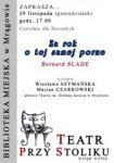 """Teatr przy stoliku """"Za rok o tej samej porze"""" Bernarda Slade'a"""