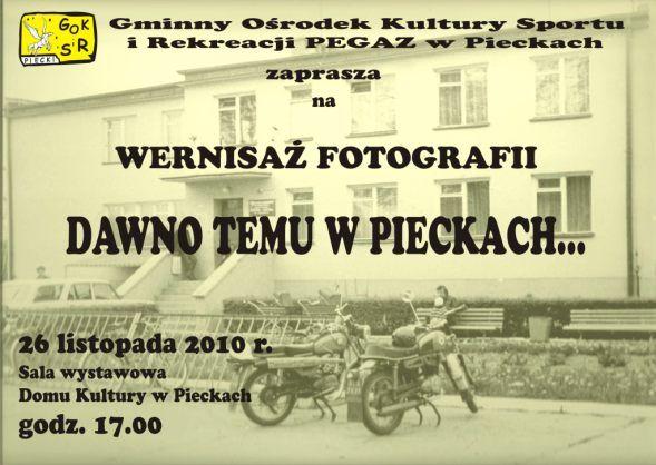 Wernisaż fotografii w Pieckach.