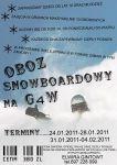 Obóz snowboardowy na G4W