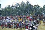 Inscenizacja bitwy pod Wopławkami.