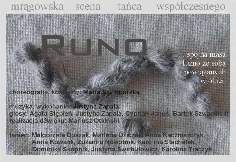 Runo - spektakl Mrągowskiej Sceny Tańca Współczesnego