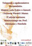 IV edycja konkursu im. Abrahama Joshue Heschela