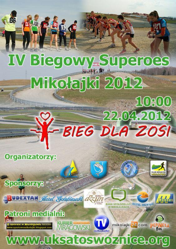 IV Mistrzostwa Mazur w Biegu Superoes Mikołajki 2012
