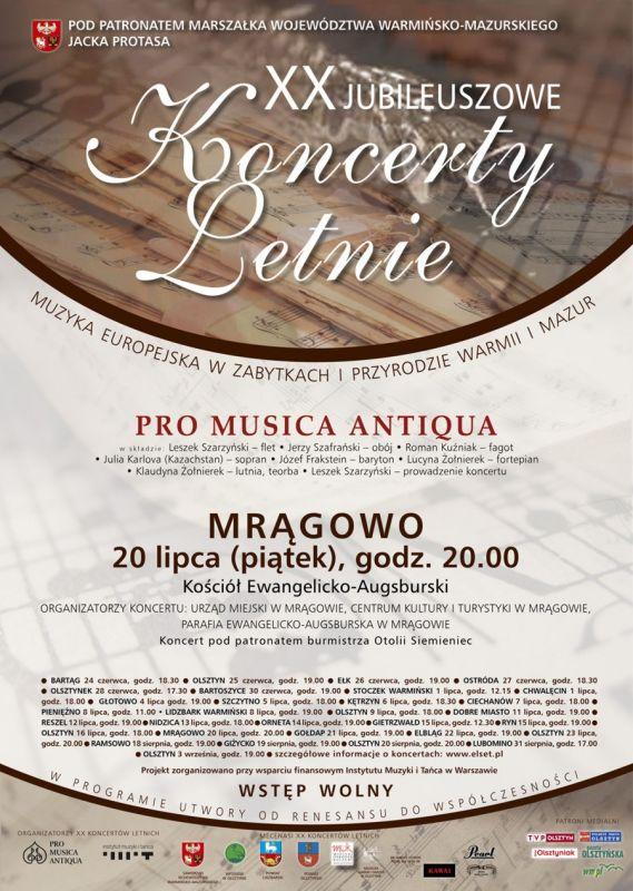 Pro Musica Antiqua wystąpi w Mrągowie