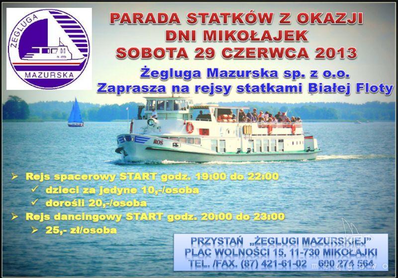 Parada statków z okazji Dni Mikołajek