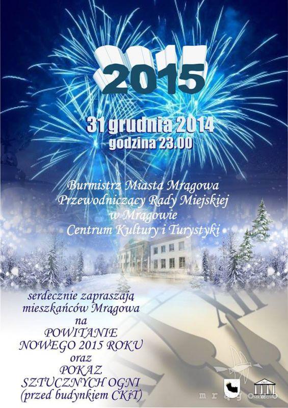 Powitanie Nowego Roku w Mrągowie