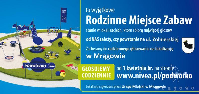 Głosuj na podwórko NIVEA w Mrągowie