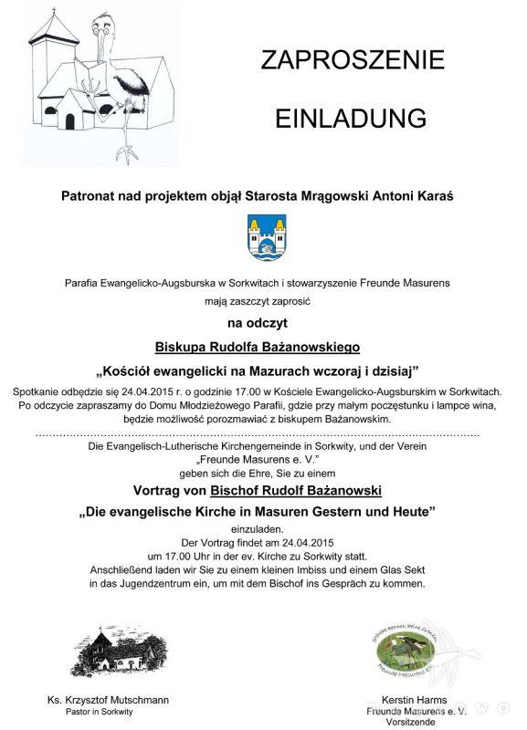 Kościół ewangelicki na Mazurach wczoraj i dziś