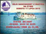 Rejs Dancingowy z muzyką na żywo w Mikołajkach