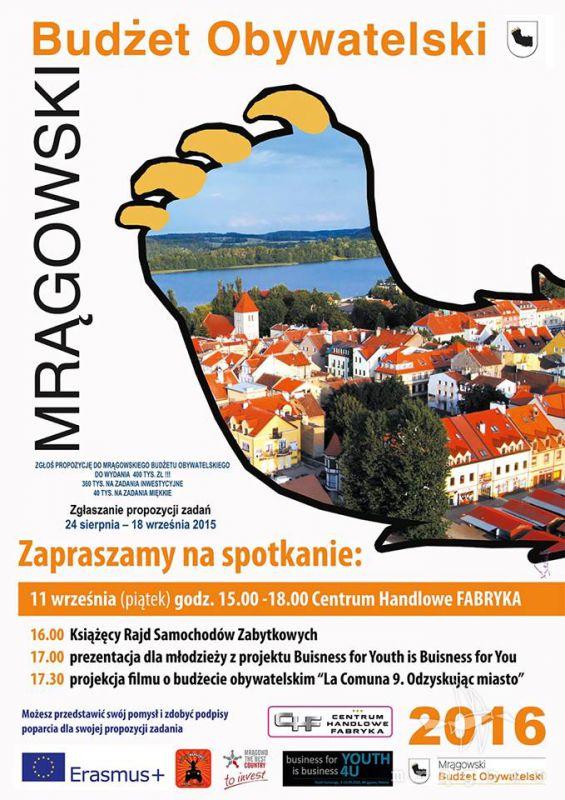 Mrągowski Budżet Obywatelski w CH Fabryka