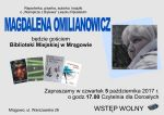 Spotkanie autorskie z Magdaleną Omilianowicz