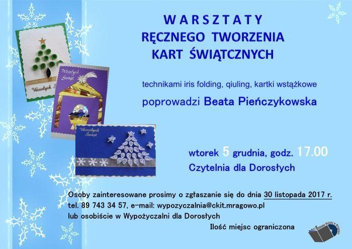 Warsztaty ręcznego tworzenia kart świątecznych