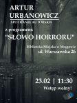 Literacki Stand-up Artura Urbanowicza