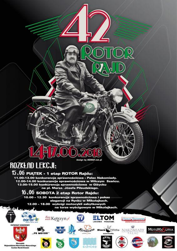 Zabytkowe motocykle w Mikołajkach