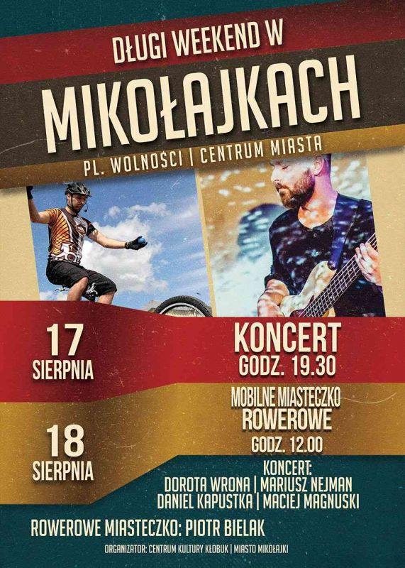 Koncert i rowerowa edukacja w Mikołajkach